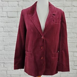Roth Le Cover Blazer Made In Poland Plum Pockets